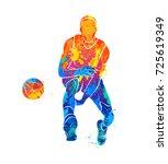 basketball player  ball | Shutterstock .eps vector #725619349