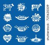 vector milk logo | Shutterstock .eps vector #725620339