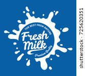 vector white milk logo template ... | Shutterstock .eps vector #725620351