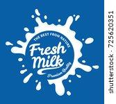 vector white milk logo template ... | Shutterstock .eps vector #725620351