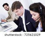 customer service workers   Shutterstock . vector #725621029