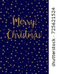 simple christmas card   dark ... | Shutterstock .eps vector #725621524