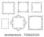 set of hand drawn swirly text... | Shutterstock .eps vector #725622151
