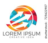 business abstract logo design.... | Shutterstock .eps vector #725622907