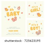 it's a girl  it's a boy and... | Shutterstock .eps vector #725623195