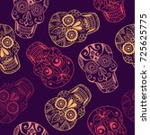 vector pattern  with mexican... | Shutterstock .eps vector #725625775