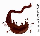 chocolate drops. drink element  ... | Shutterstock . vector #725626645
