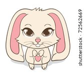 Cute Funny Bunny With Big Eyes...