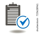 checklist check mark icon.... | Shutterstock .eps vector #725628961