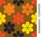 seamless pattern with floral... | Shutterstock .eps vector #725634205