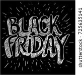 black friday poster blank... | Shutterstock .eps vector #725635141