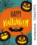 halloween cute design.... | Shutterstock .eps vector #725637571