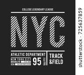 new york  brooklyn typography... | Shutterstock .eps vector #725637859