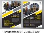 business brochure. flyer design.... | Shutterstock .eps vector #725638129