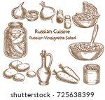 russian cuisine  russian...   Shutterstock .eps vector #725638399