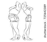 vector conceptual fat... | Shutterstock .eps vector #725642389