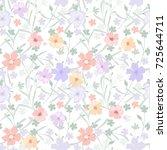 vintage flowery pattern.... | Shutterstock .eps vector #725644711