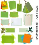 green notes and tags collection - stock photo