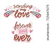 cute modern calligraphy phrases ...   Shutterstock .eps vector #725647675