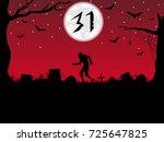 halloween background.zombie... | Shutterstock . vector #725647825