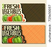 vector banners for fresh... | Shutterstock .eps vector #725650057