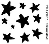 hand drawn doodle stars vector... | Shutterstock .eps vector #725651461