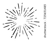 vintage sunburst explosion... | Shutterstock .eps vector #725651485