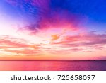 burning skies night is coming  | Shutterstock . vector #725658097