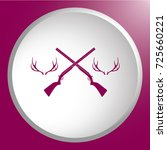 hunting club logo icon. vector... | Shutterstock .eps vector #725660221