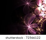 Pink And Gold Fractal Flowers