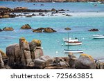 ocean coast in meneham village... | Shutterstock . vector #725663851