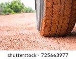Soil Messy On Car Wheel On Soil ...
