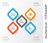 education icons set. collection ... | Shutterstock .eps vector #725666689