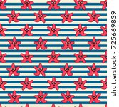 cute kids pattern for girls and ... | Shutterstock . vector #725669839