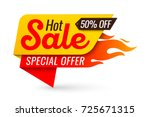 hot sale price offer deal... | Shutterstock .eps vector #725671315