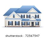 family house | Shutterstock .eps vector #72567547