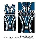 abstract print for dress with... | Shutterstock .eps vector #725676109
