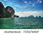 Stock photo phuket thailand cruise to james bond island 725676469