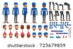 man in sweater creation set.... | Shutterstock .eps vector #725679859