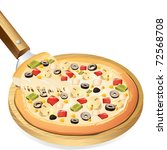 illustration of yummy cheesy...   Shutterstock .eps vector #72568708