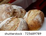 Fresh Bread Loafs Closeup