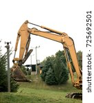 Small photo of Yellow hydraulic excavator allow you to move tons of material all day long with a great deal of speed, precision, and efficiency.