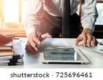 businessman working with smart... | Shutterstock . vector #725696461