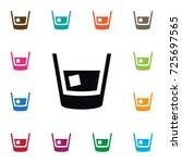 isolated glass icon. restaurant ... | Shutterstock .eps vector #725697565