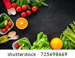 vegearian lunch. vegetables...   Shutterstock . vector #725698669