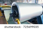 rolled steel. stack of rolls ... | Shutterstock . vector #725699035