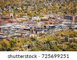 aerial picture of boulder city...   Shutterstock . vector #725699251