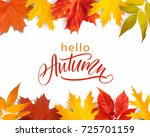 autumn greeting background with ... | Shutterstock .eps vector #725701159