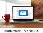 mail communication connection... | Shutterstock . vector #725701315
