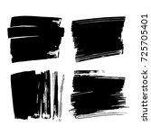 vector set of hand drawn brush... | Shutterstock .eps vector #725705401